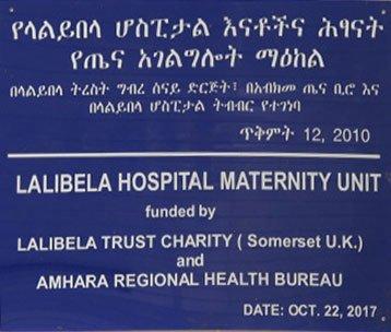 plaque denoting the founding of the hospital