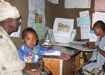 child in clinic